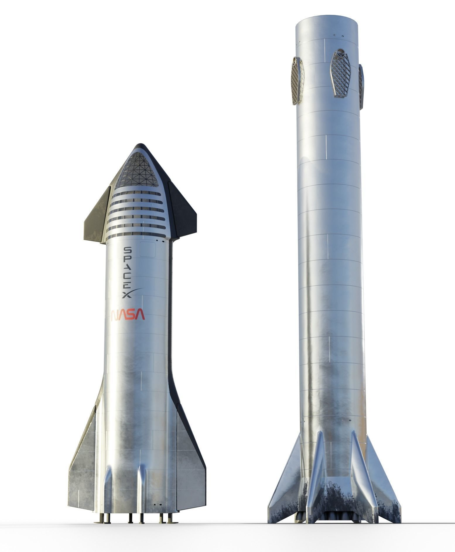 Starship and Super Heavy booster SpaceX