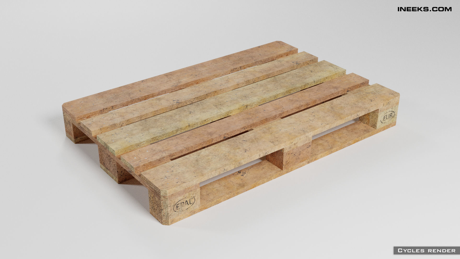Wooden euro pallet used condition with dirt