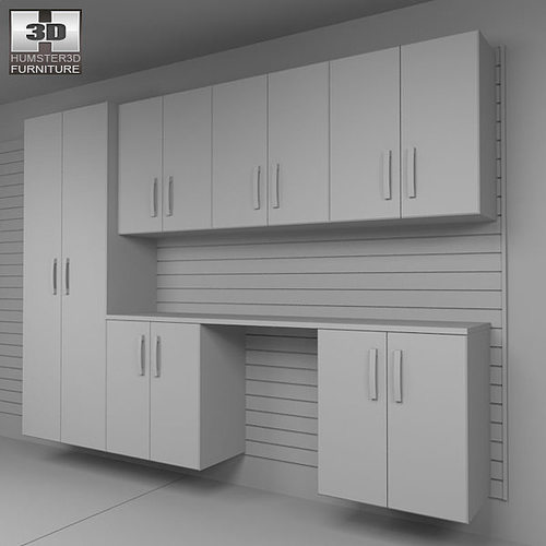 ... Garage Furniture 04 Set 3d Model Max Obj 3ds Fbx C4d Lwo Lw Lws 8 ...