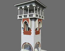 architecture Tower 3D