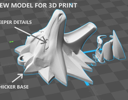 witcher medallion 3D print model