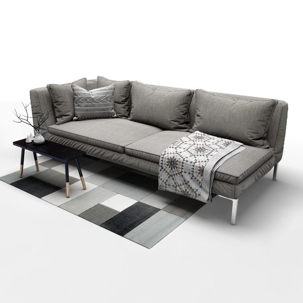 Sofa B And Italia Charles Model Max Obj Mtl Fbx Mat 2