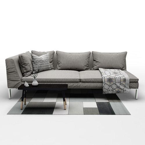 ... Sofa B And B Italia Charles 3d Model Max Obj Fbx Mtl Mat 3 ...