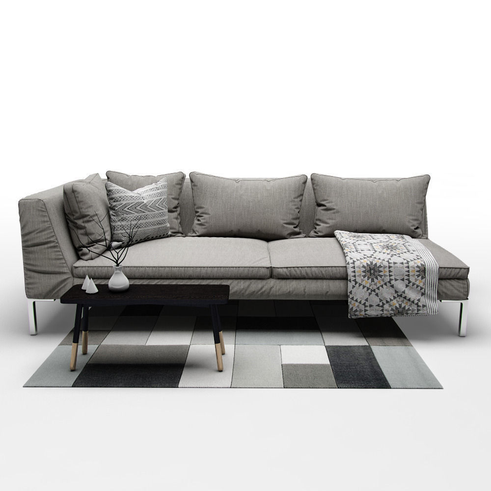 Sofa B And Italia Charles Model Max Obj Mtl Fbx Mat 3