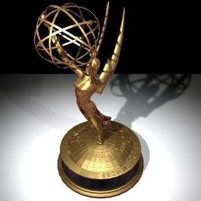 emmy statuette 100 percent accurate 3d model obj 3ds lwo lw lws dxf 1
