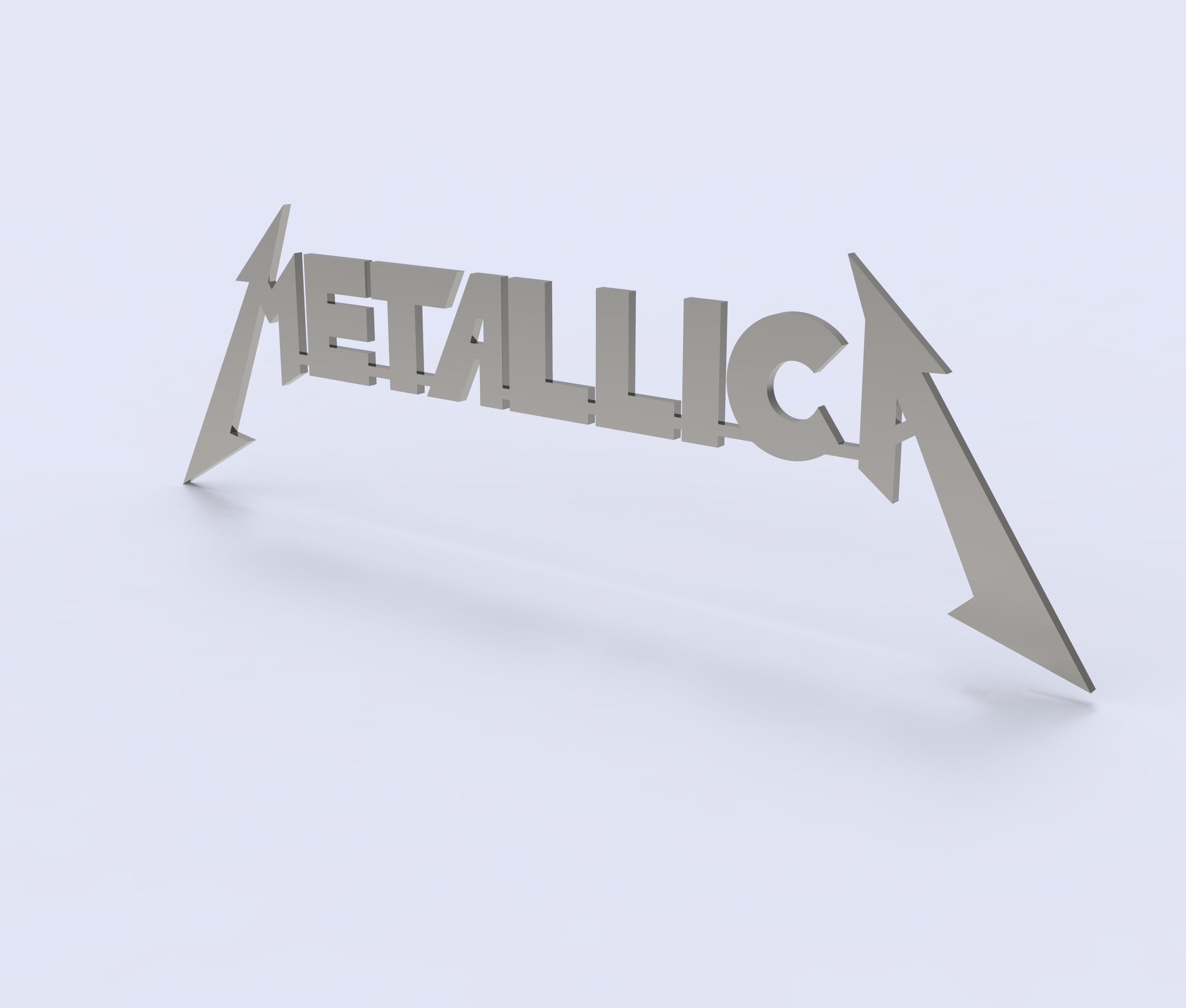 Metallica Logo for 3D print and laser cutting from sheet metal