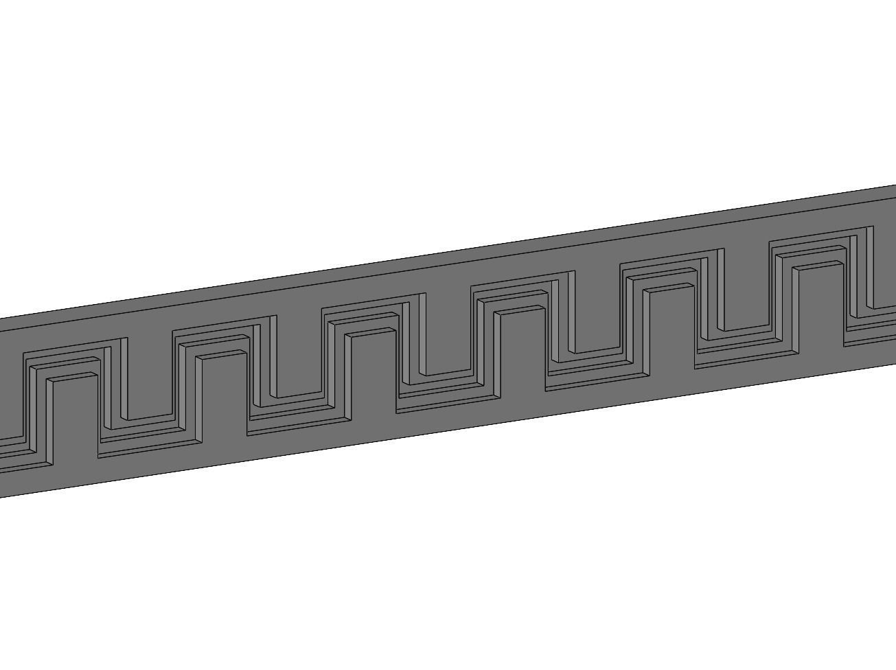 Greek key frieze panels for plaster and wood working