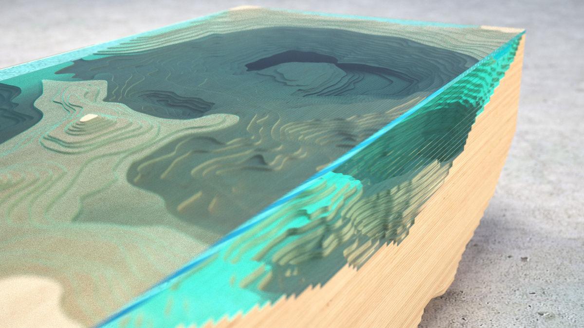 ... Abyss Glass Table 3d Model Obj 3ds Fbx C4d 6 ...