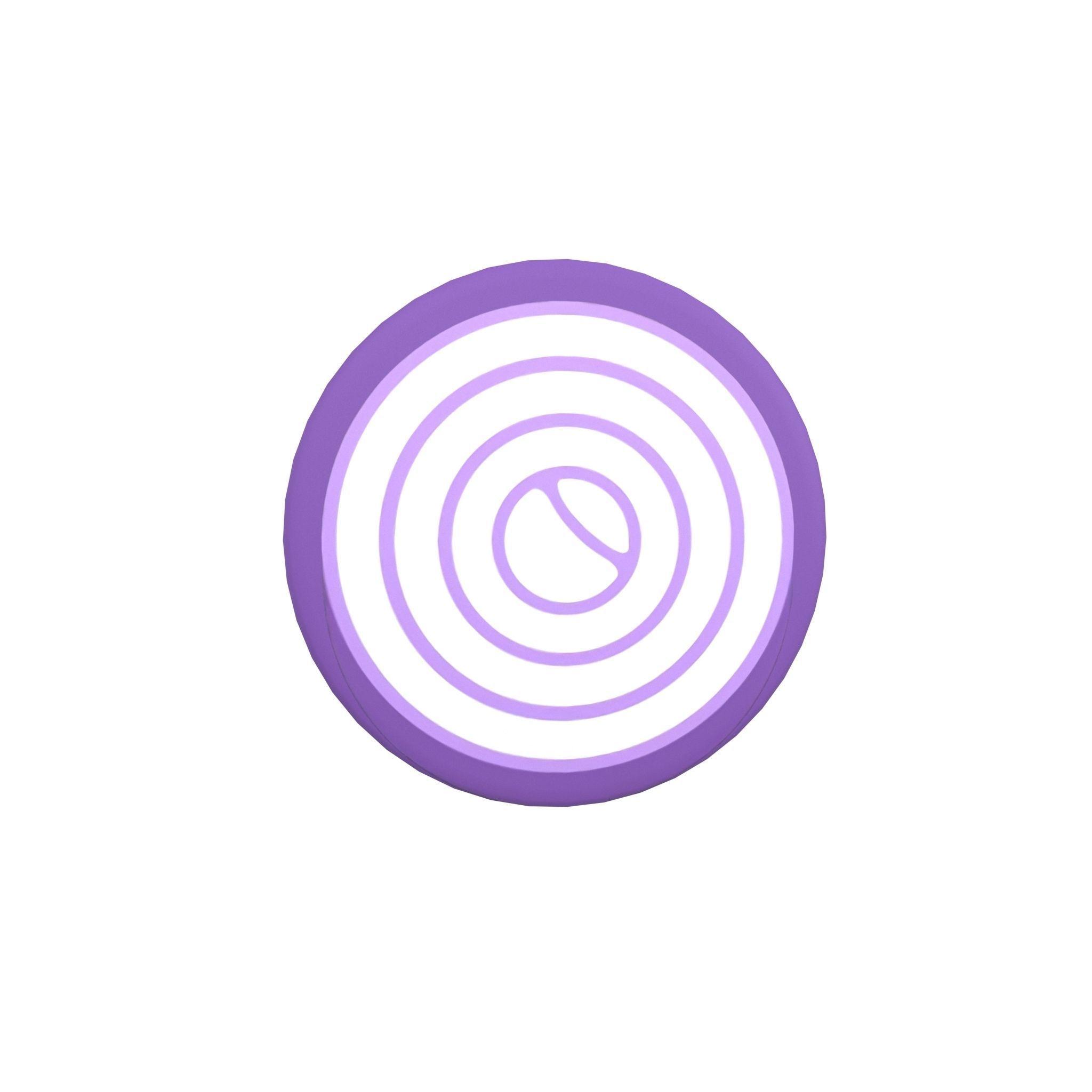 3D asset Cartoon Onion Slice v1 001 | CGTrader