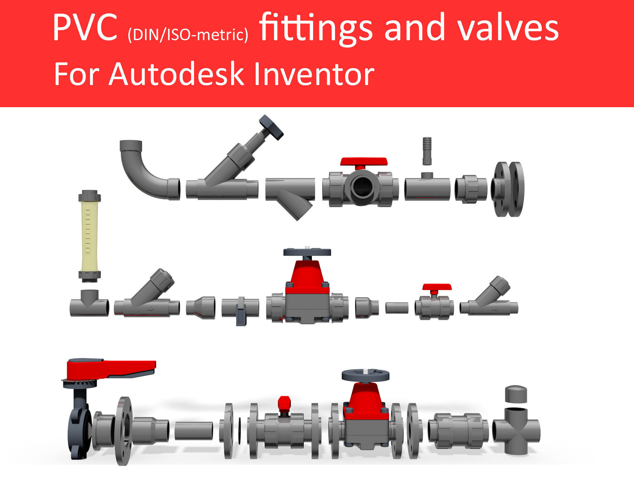 Autodesk inventor cad library piping no 3 3d model ipt for 3d drawing online no download
