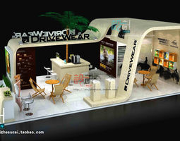 3d model exhibition booth 42