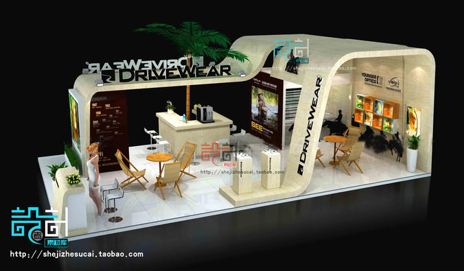 Exhibition Booth Obj : D exhibition model download max obj fbx ds c stl