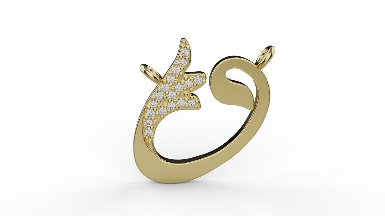 vav arabic alphabet muslim pendant