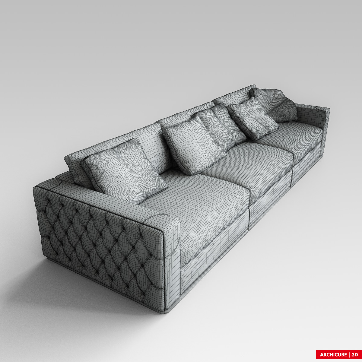 fendi sofa 3d model max obj fbx - Fendi Sofa