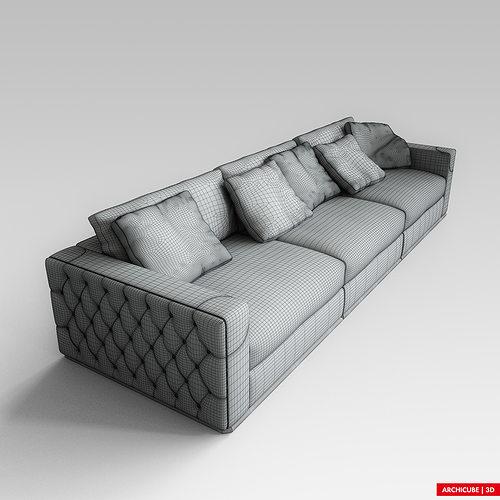 ... Fendi Sofa 3d Model Max Obj Fbx 8 ...