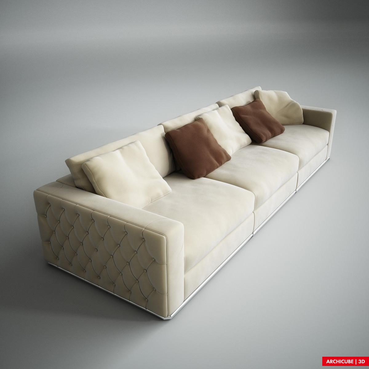 c873de7b11fd Fendi Sofa 3D model