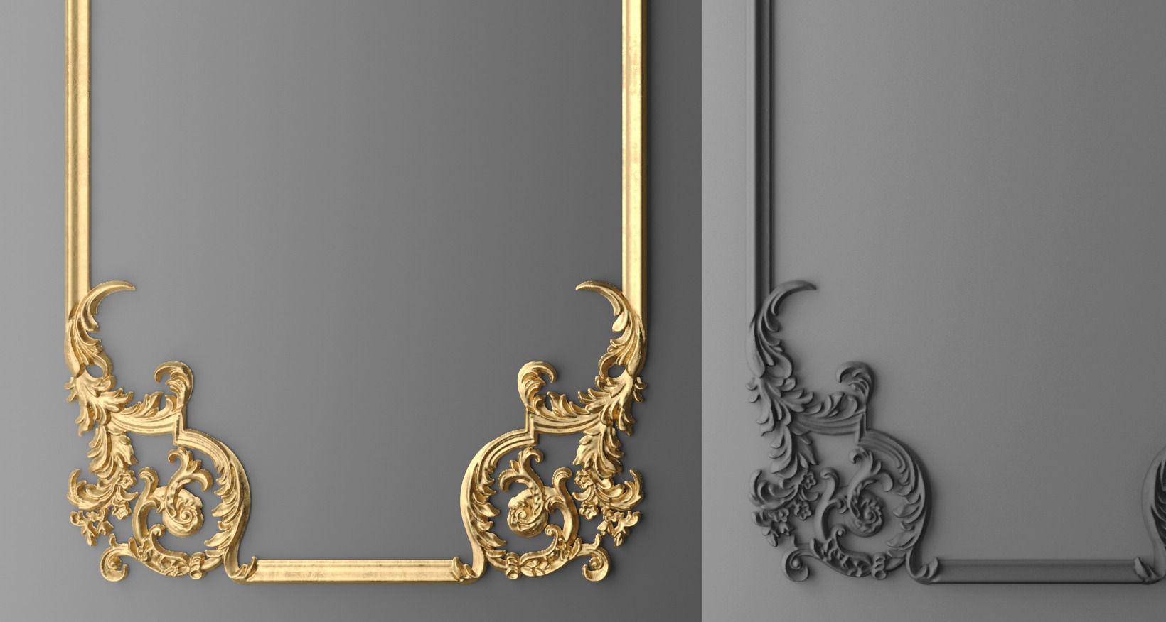 frame molding 1 3d model max obj fbx mtl 4