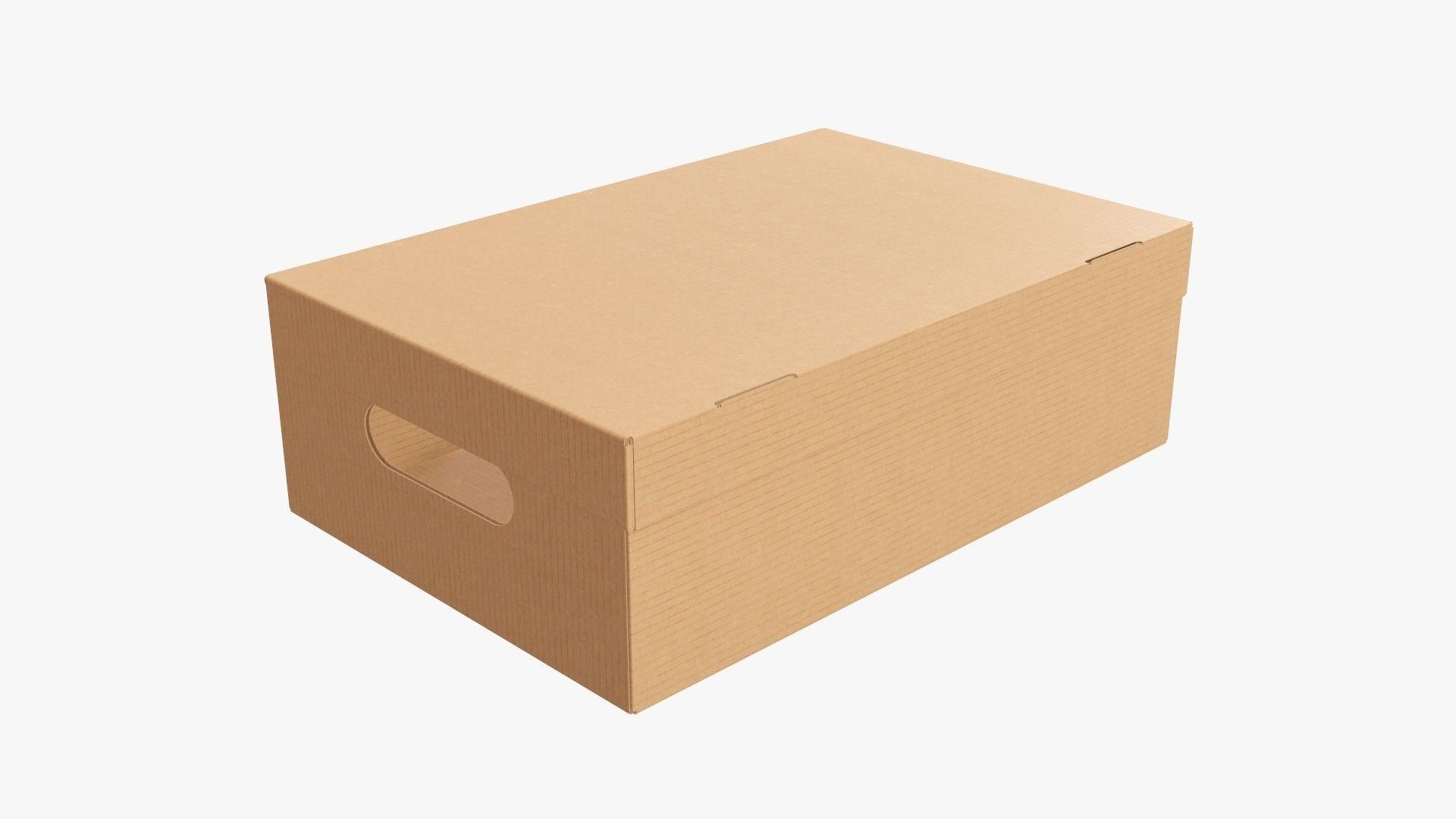 Closed shoes cardboard box