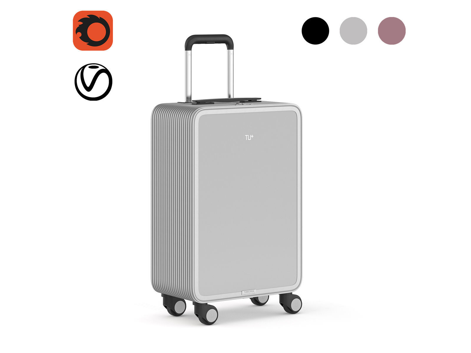 TUPLUS X2 Aluminum Hard Case Carry-On Luggage