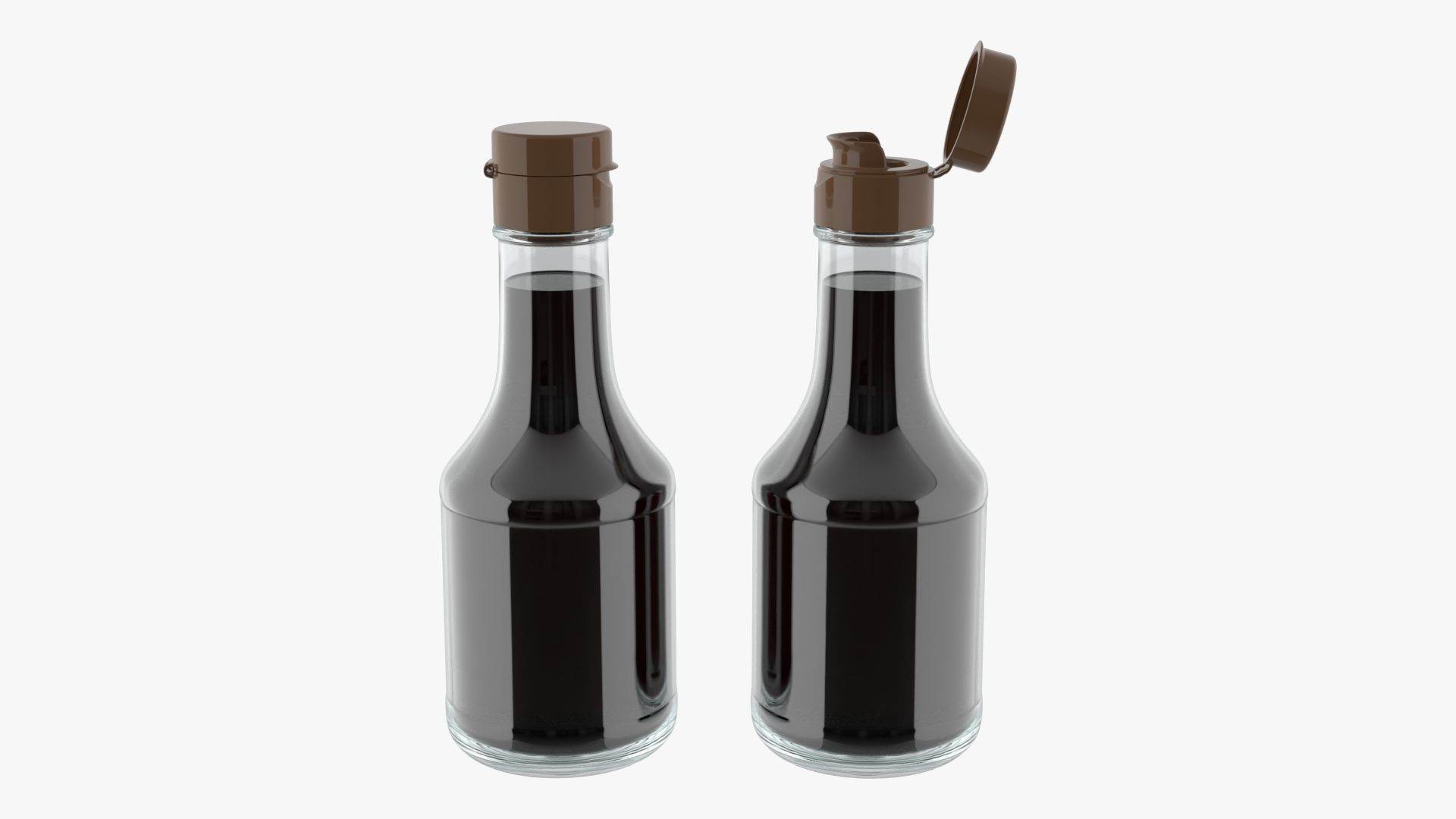 Soy sauce in a bottle 05