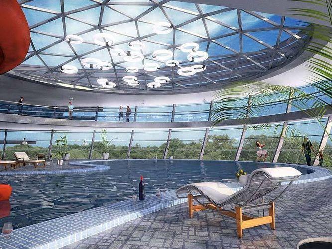 swimming pool interior 3d model max obj fbx mtl 1