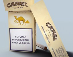 camel cigarette pack 3d model