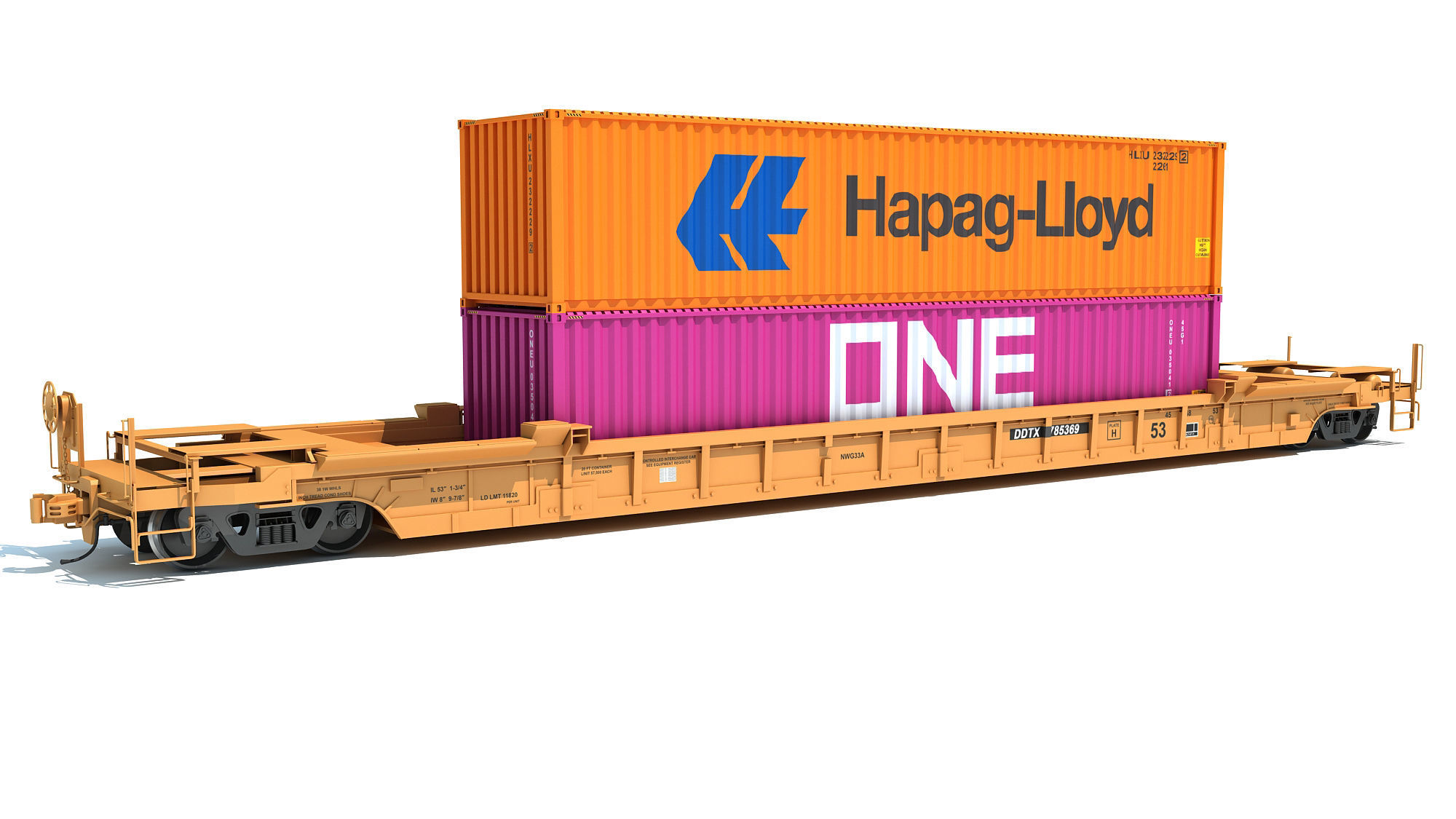 Double Stack Train Car