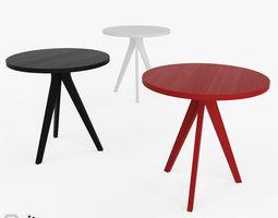 Tripod Table by West Elm 3D model
