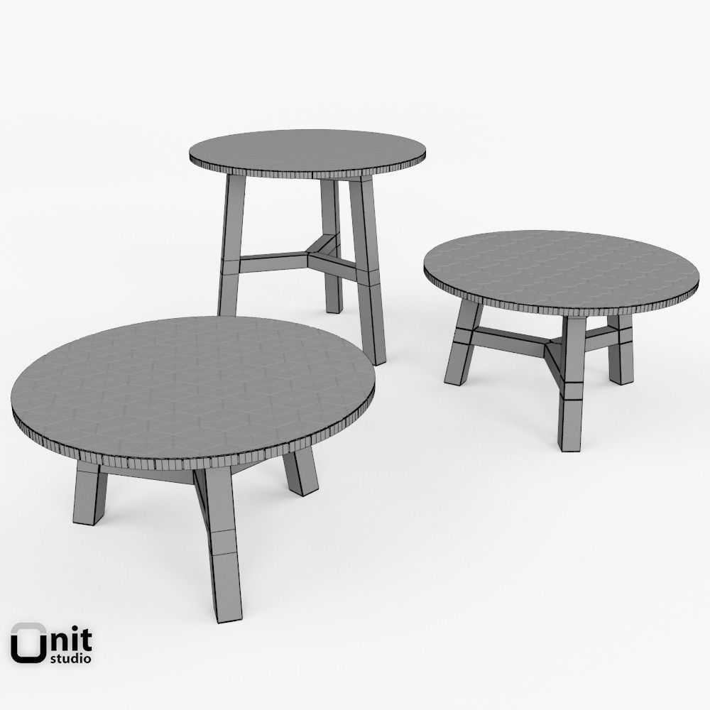 ... Mosaic Coffee Table By West Elm 3d Model Max Obj 3ds Fbx Dwg 11 ...