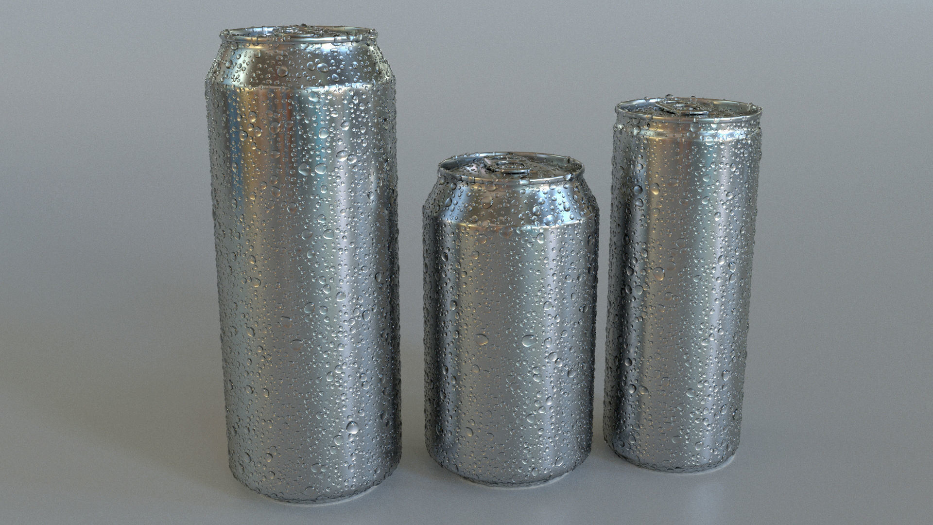 3D Beverage Can Wet - 3DS Max and VRAY RENDER
