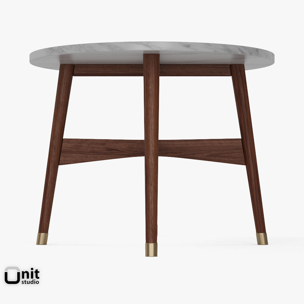 ... reeve mid-century oval coffee table by west elm 3d model max obj 3ds  fbx ... - Reeve Mid-Century Oval Coffee Table By West Elm 3D Model MAX OBJ