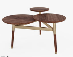 clover coffee table by west elm 3d model