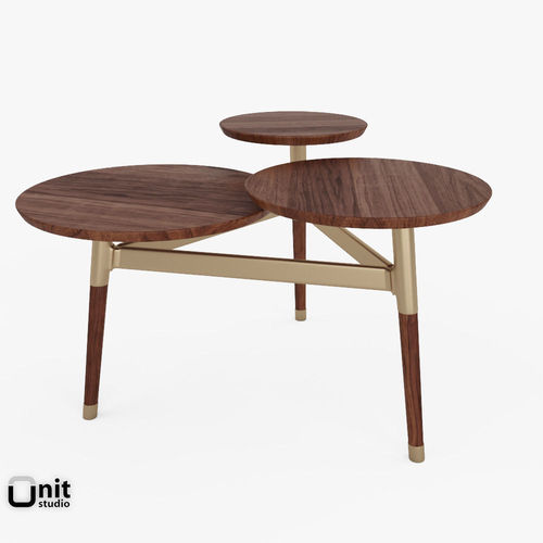 Clover Coffee Table By West Elm D Model West CGTrader - West elm clover coffee table