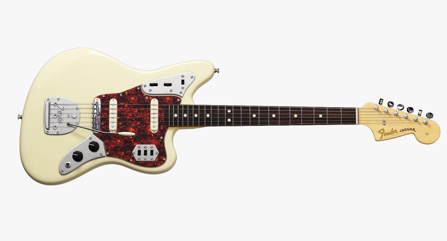 Wonderful ... Fender Jaguar Electric Guitar 3d Model Max Obj Mtl Fbx Ma Mb 3 ...