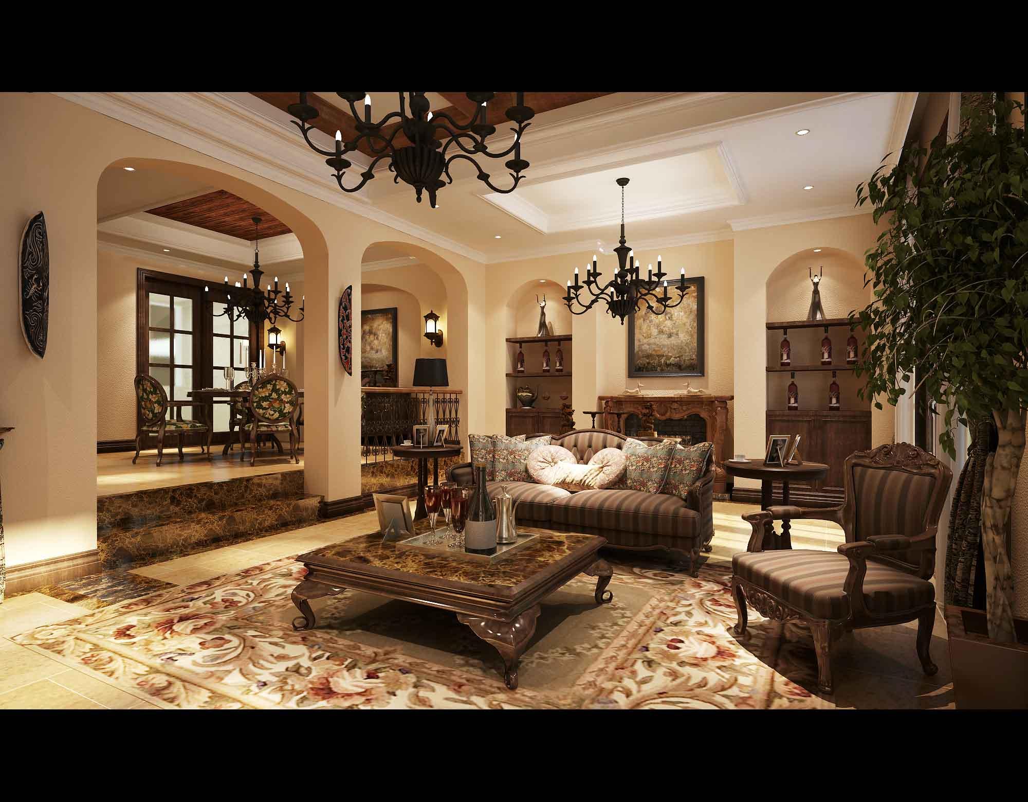 living room 3d model max