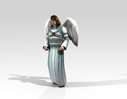 3d model angel low poly 01 animated game-ready