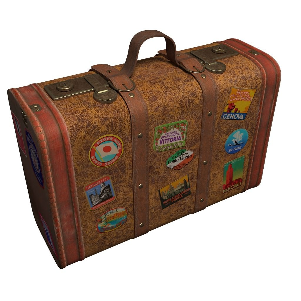 3d model old suitcase cgtrader