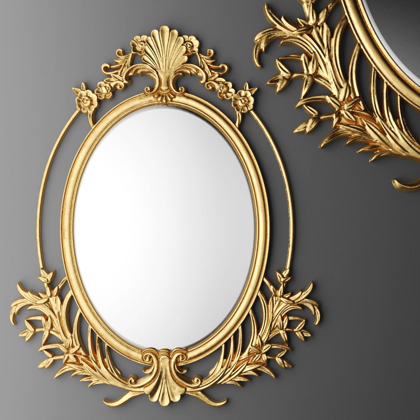 Baroque oval frame 3D | CGTrader
