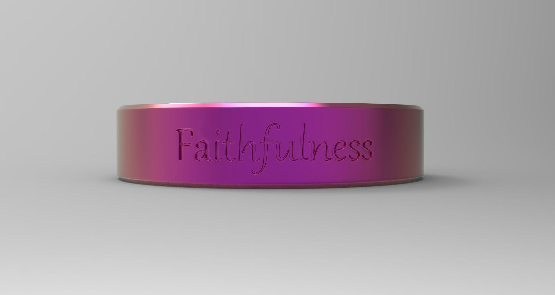 Faithfulness ring pink