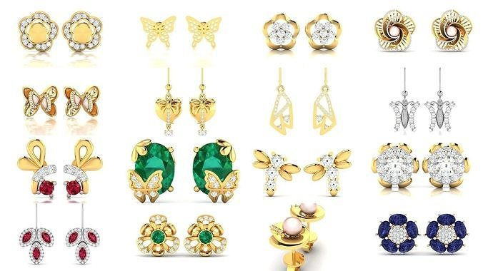 157 NATURE INSPIRED EARRINGS COLLECTION