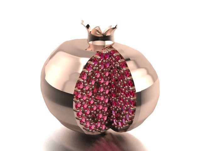 pomegranate necklace or earrings