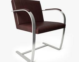 3d model knoll brno flat bar chair