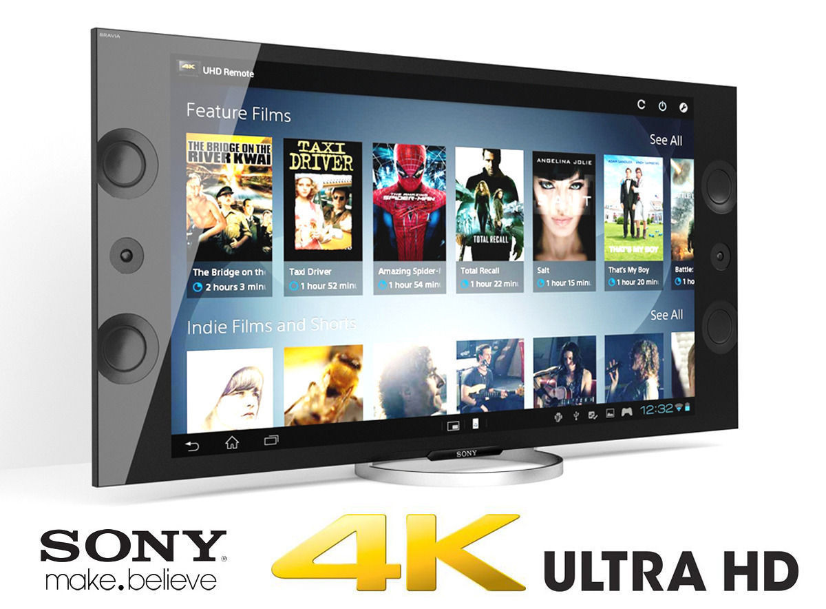 3D Sony XBR 4K Ultra HD TV | CGTrader