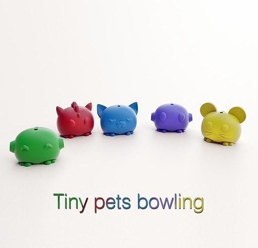 TINY PETS BOWLING- 3D Printed