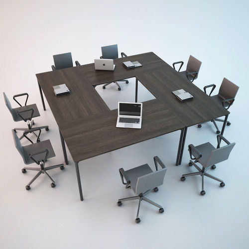conference chair and table 01 3d model max obj mtl fbx 1