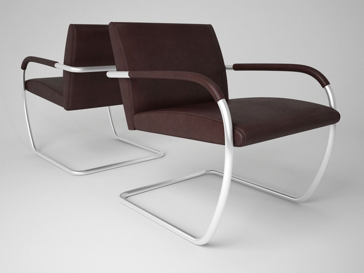 Knoll Brno Lounge Chairs 3d Model Max Obj Fbx 1 ...