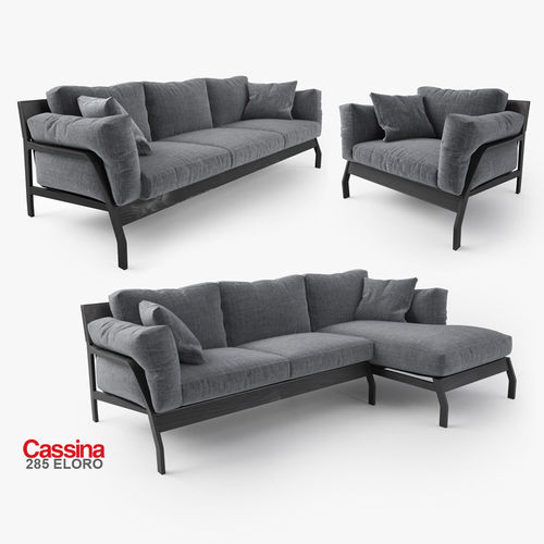 Cassina Eloro Sofas Collection 3d Model Max Obj Fbx Mat 1 ...