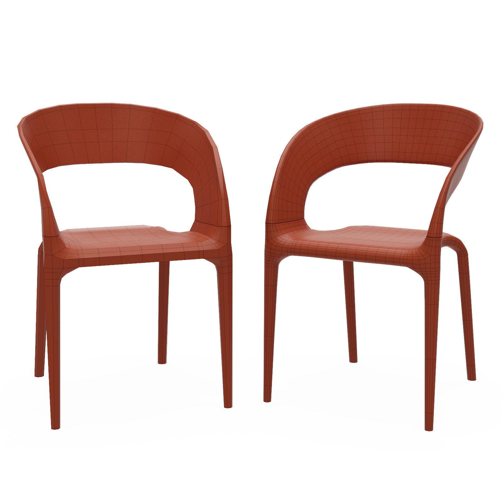 ... Driade Ring Chair 3d Model Max Obj Mtl 3ds Fbx 8