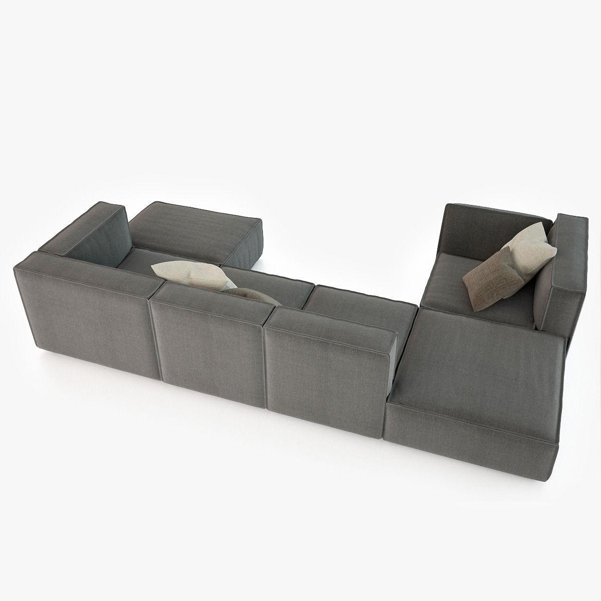 calia italia richard sofa collection 3d model max obj fbx. Black Bedroom Furniture Sets. Home Design Ideas