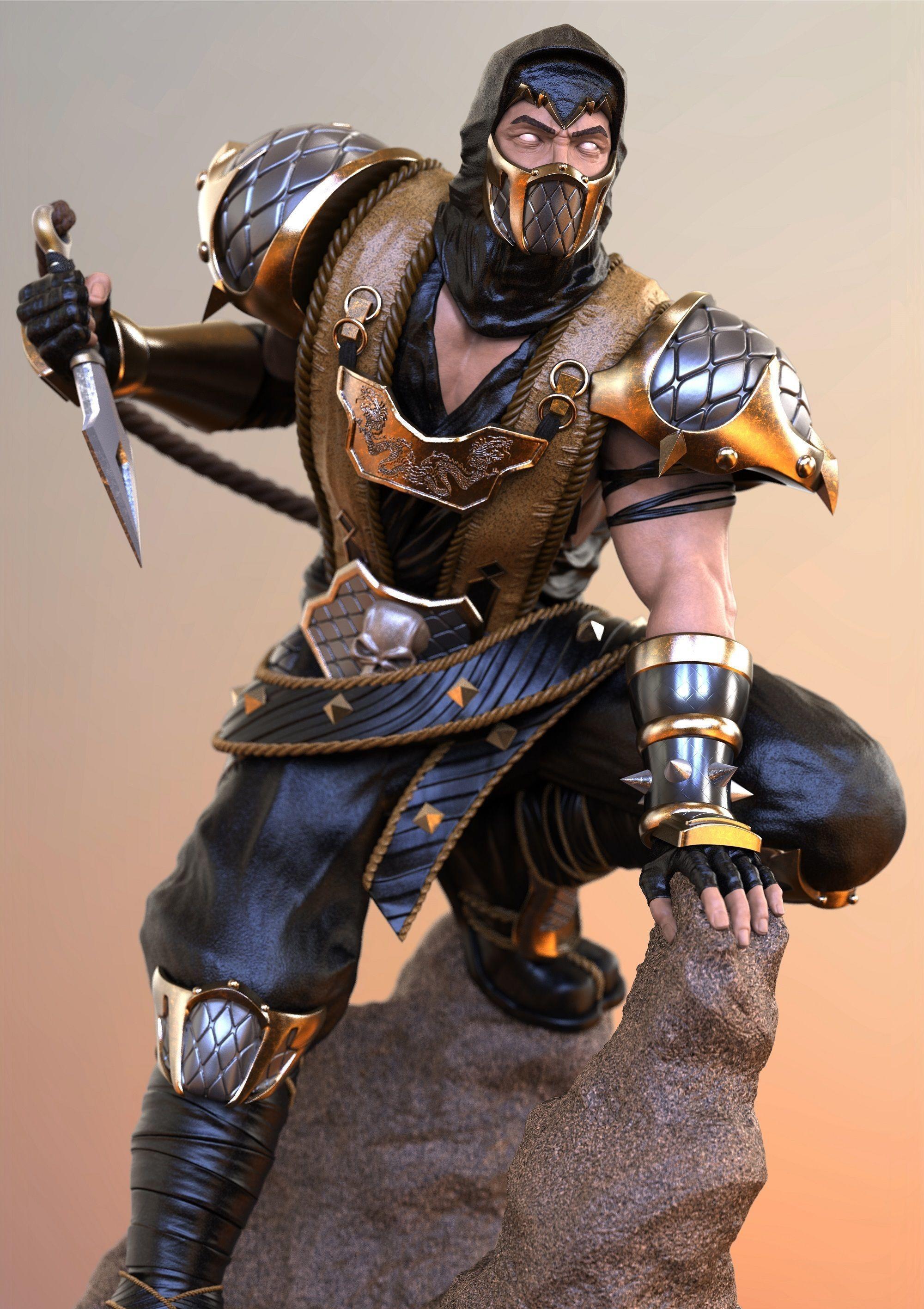 Scorpion Mortal Kombat Deception 3d Printable Model